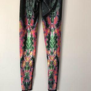 Pants - Indian Americans symbol abstract print leggings